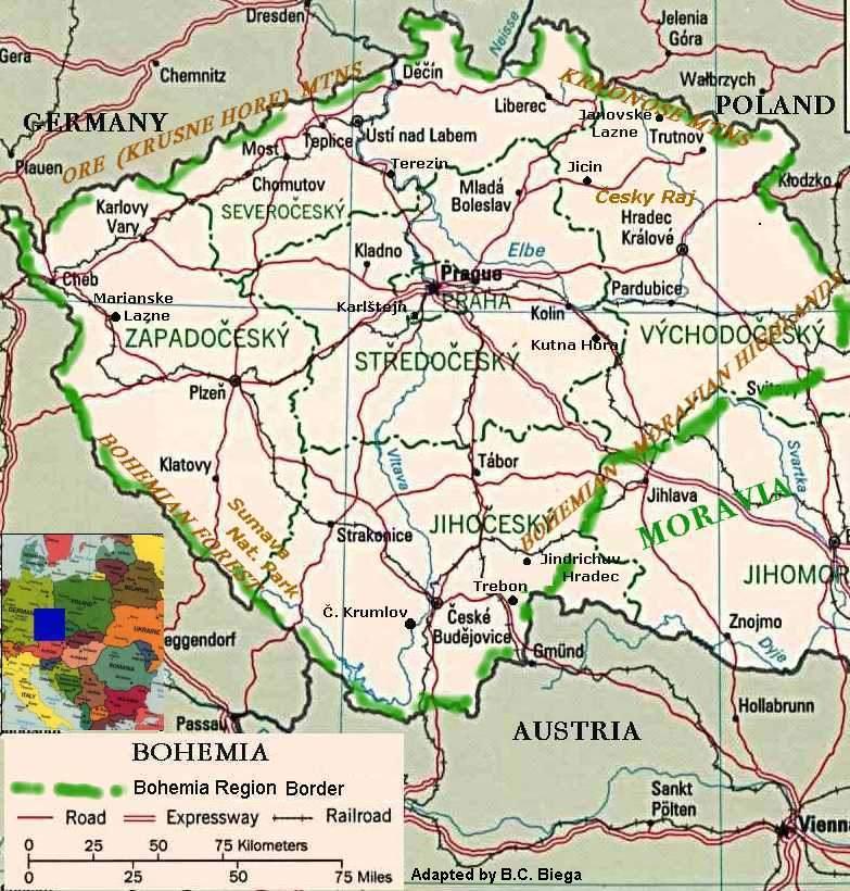 Bohemia is a region of the czech republic