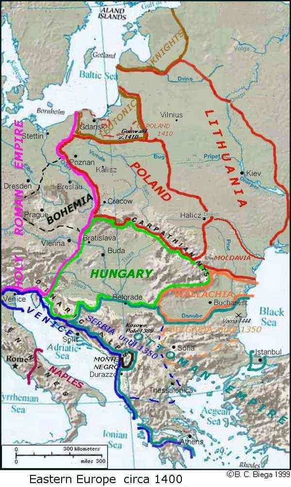 Eastern Europe History The First Millenium - Europe map 15th century