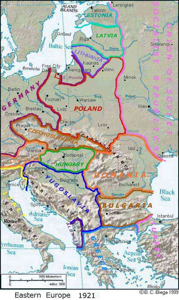 Maps Central Europe - Central europe map 1945