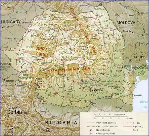Map - Romania map