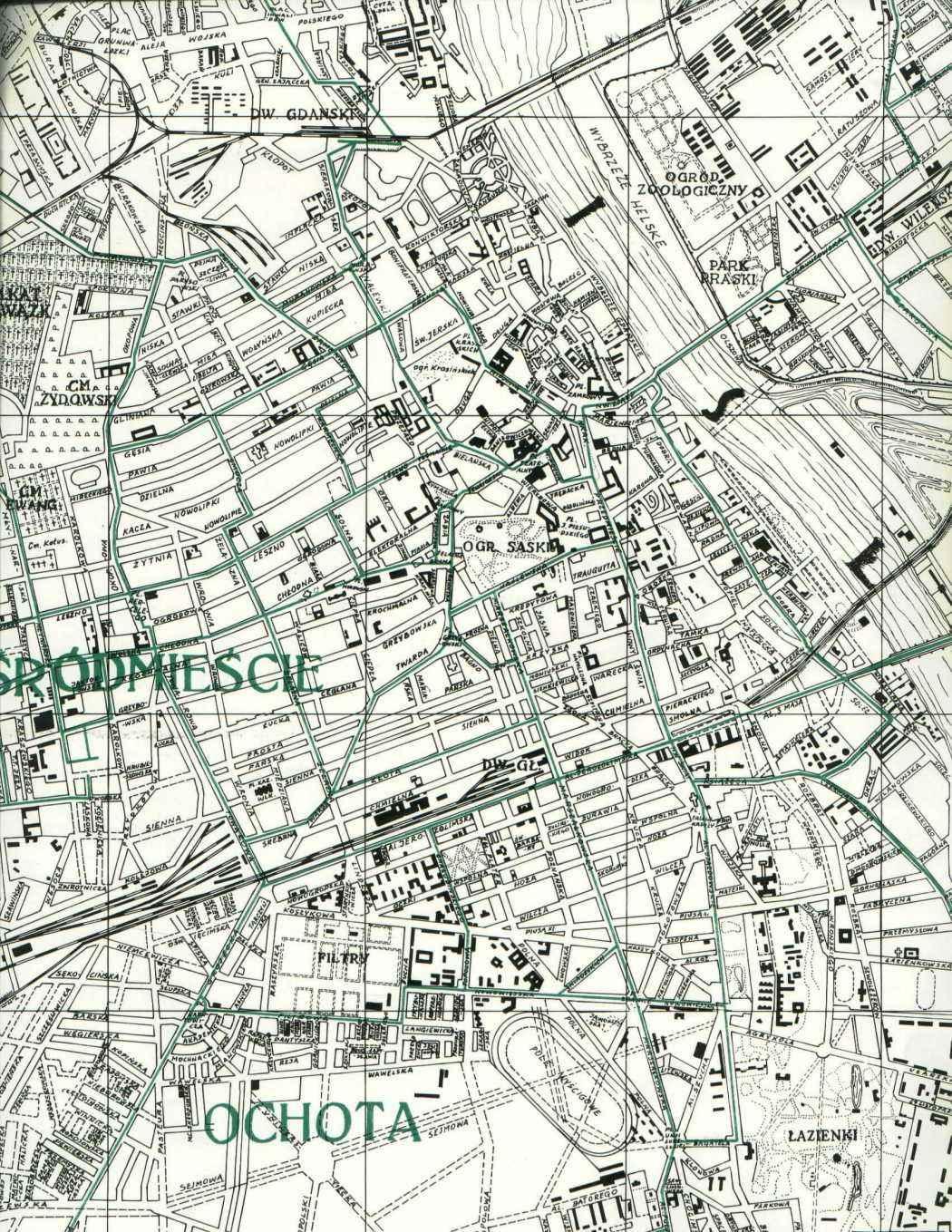 Warsaw Maps - 1938